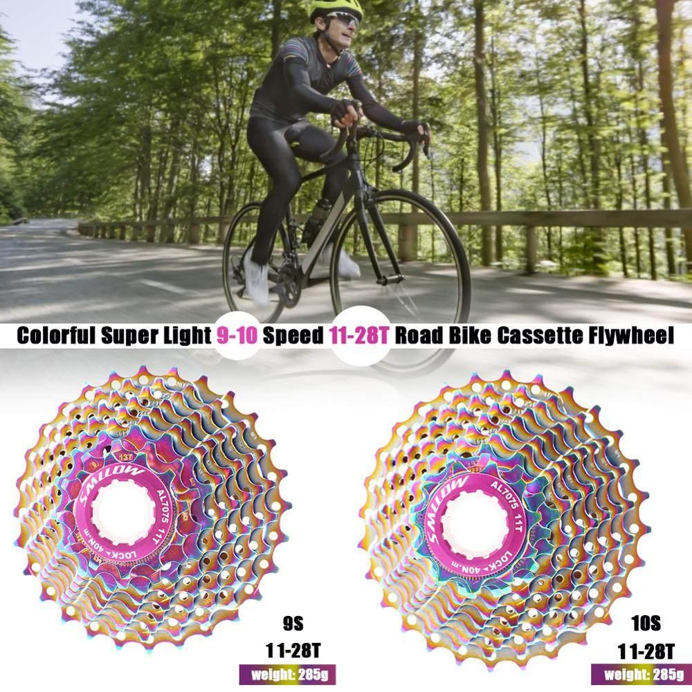 SMLLOW 11-28T 10Speed Ultra-light Road Bike Multicolor Cassette Flywheel Fashion