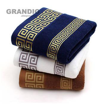 Geometryczny wzór ręcznik kąpielowy do łazienki 100 bawełniane ręczniki zestaw ręcznik frotte myjka ręczna Travel Beach sportowe ręczniki tanie i dobre opinie 1pc bath towel and 2pcs face towels approx 70x140cm approx 400g approx 34x75cm approx 100g cpe zipper bag Prostokąt NFS PLUS
