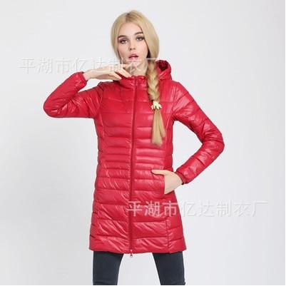 Plus Size 6XL 7XL Autumn Winter Ultra Light Down Jacket 90% Duck Down Coat Hooded Long Sleeve Warm Slim Parka LX2208