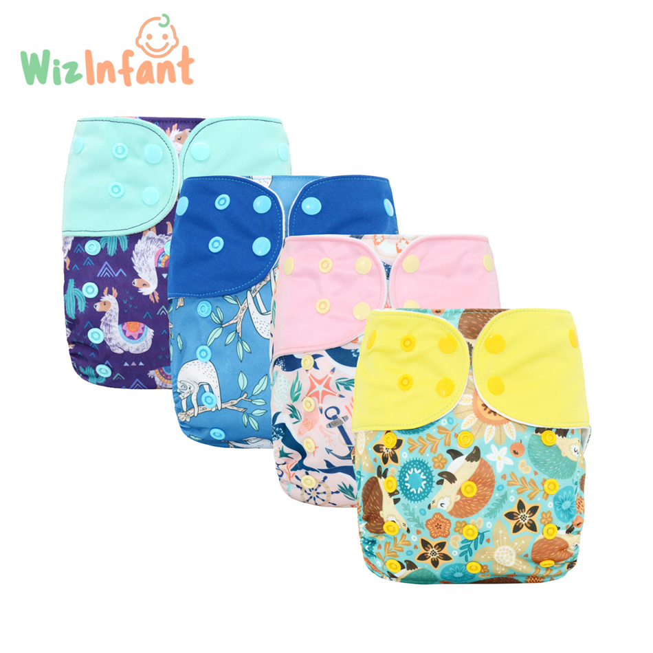 WizInfant OS suede cloth Pocket Cloth Diaper,with one back elastic pocket,waterproof,reusable and breathable,for 5-18kg baby