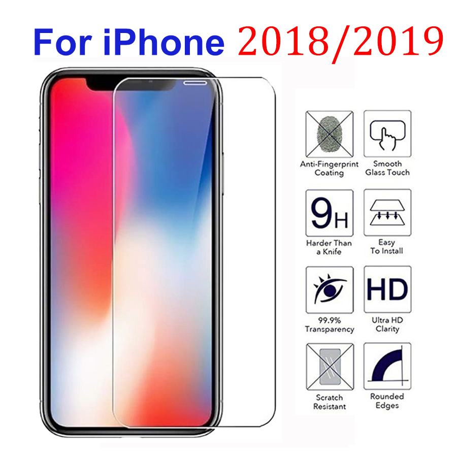 Tempered Glass For IPhone X XR XS MAX 11 Pro Max 6 S 6S 7 8 Plus 5 5S 5C SE Screen Protector 9H Hardness Ultra-thin Scratchproof