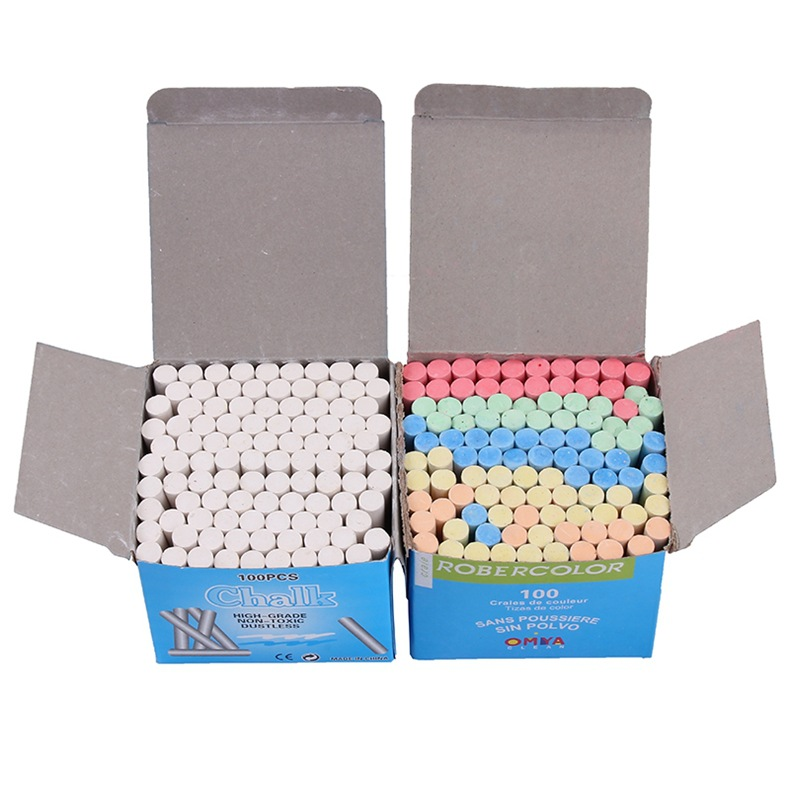 12Pcs Dustless White Drawing Chalk For School Education Chalks High Quality Stationary Office Supplies Marker White Tizas