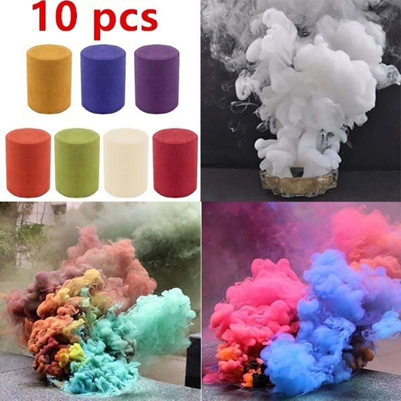 1Pcs Colorful Smoke Fog Cake Smoke Effect Show Round Bomb Photography Aid DIY Toy Gifts--u