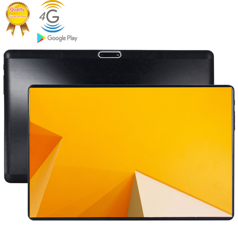 2.5D 10 Inch Tablet PC Android 9.0 Phablet 3G WCDMA 4G LTE Tablets 6GB RAM 128GB ROM Octa Core Phone Call FM GPS Bluetooth 10.1