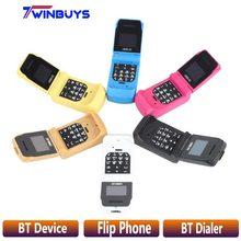 """LONG-CZ J9 мини флип мобильный телефон 0,6"""" маленький сотовый телефон беспроводной Bluetooth Dialer FM волшебный голос handsfree Наушники для детей"""