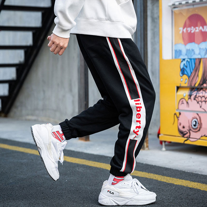 Fashion Men Pants Casual Harem Pants Men Printed Designer Spliced Cargo Trousers Streetwear Hip Hop Joggers Sweatpants Hip Hop