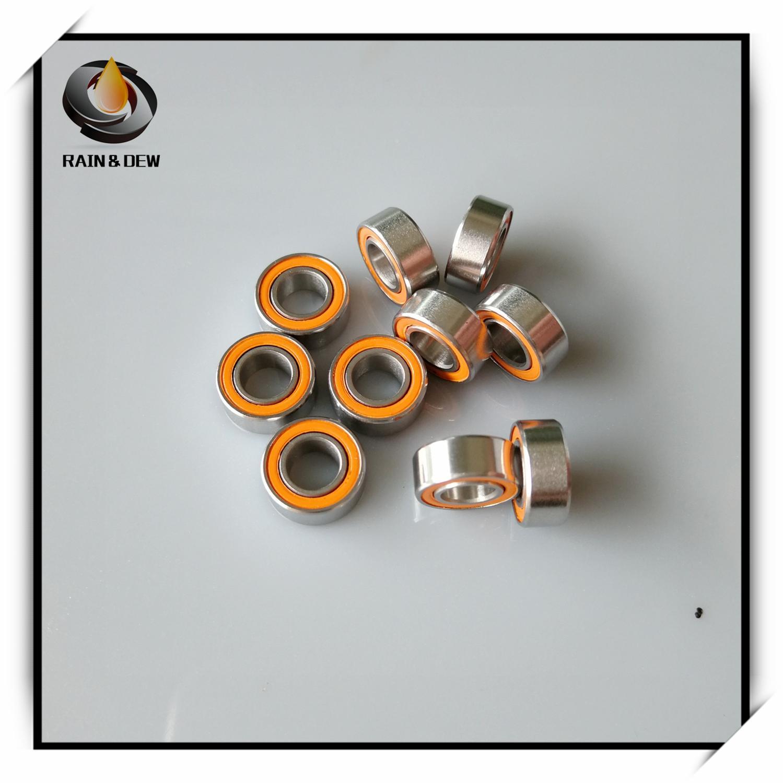 7 8x12x3.5 mm SMR128-2RS 5 pcs ABEC 440 C Céramique Acier Inoxydable BEARING