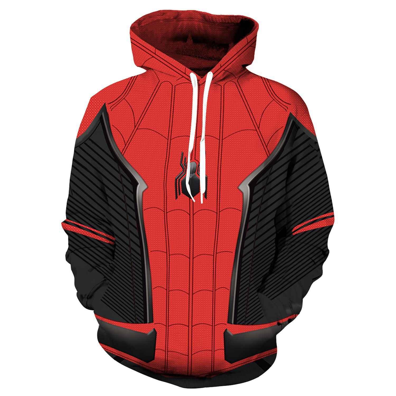 スーパーヒーローアベンジャーズ 3 スパイダーマンアイアンマンパーカー鉄セットスパイダーマンヴェノム黒パンサーのグウェンプルオーバースウェットシャツ衣装