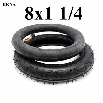 Wysokiej jakości 8X1 1 4 opona pneumatyczna dętka i zewnętrzna opona do Mini skuter elektryczny wózki dla dzieci koła części zamienne tanie i dobre opinie HKNA CN (pochodzenie) 1 25inch 8inch rubber Opony 0 3kg 8x1 1 4 inner outer tyre