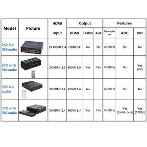 Image 2 - 4K HDMI Switcher 2X4 HDMI מתג ספליטר 2X2 2X8 2 ב 2 מתוך 2 ב 4 מתוך 2 ב 8 מתוך שלט רחוק 3D אספקת חשמל