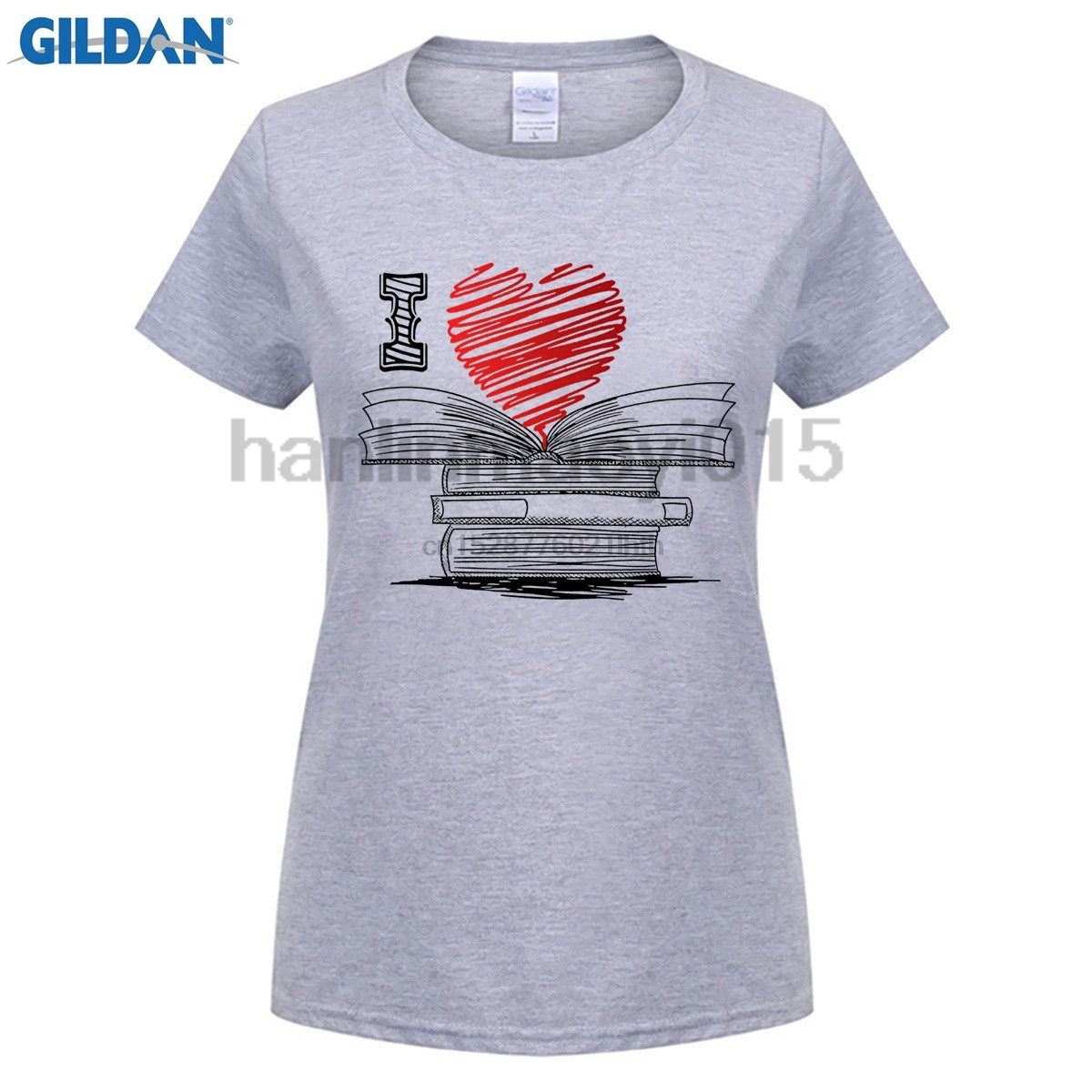100% Cotton O-neck printed T-shirt I Love Books T Shirt For Readers Writers Librarians for men(China)