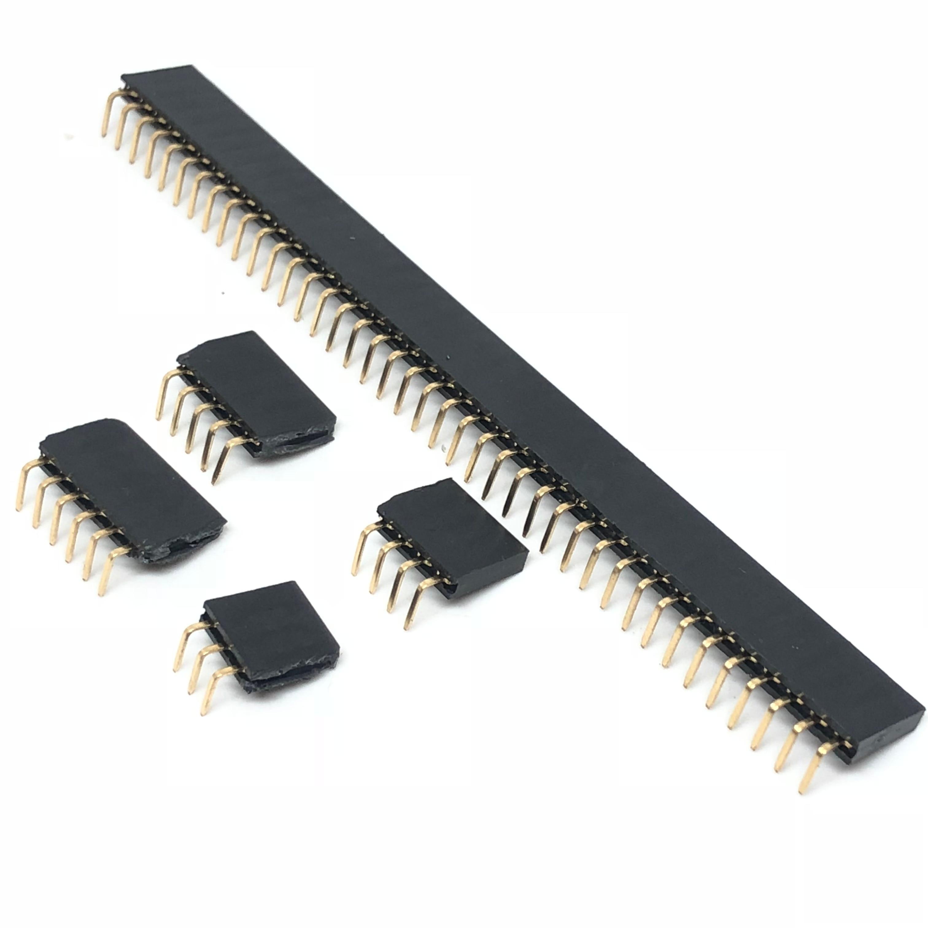 3 PCS 40 Pin 2.54 mm Single Row Female Pin Header