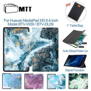 MTT Marble Tablet Case For Huawei MediaPad M3 8.4 inch Model BTV-W09 BTV-DL09 8.4'' PU Leather Flip Stand Cover Protective Funda
