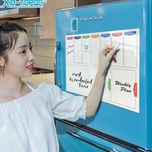 Magnet Refrigerator-Board Planner Calendar Fridge Weekly Drawing White Flexible A3