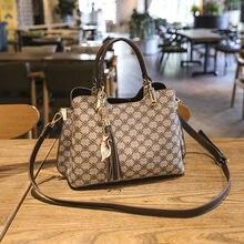Брендовая дизайнерская женская кожаная сумка с принтом сумки