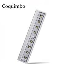 Motion Sensor Light 8 LED แบตเตอรี่ดำเนินการโคมไฟไนท์ไลท์แบบไร้สายแบบพกพาความปลอดภัยตู้เสื้อผ้า LED Light Night