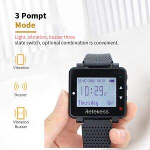 Image 5 - Retekess 433MHz sistema de llamadas inalámbrico restaurante buscapersonas 2 uds T128 receptores de reloj + 15 Uds T117 botones de llamada equipo de restaurante