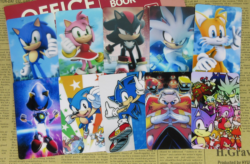 40pcs Sonic The Hedgehog Characters Stickers Tails Knuckles Shadow Dr Eggman Blaze Classic Video Game Collectible Glossy Sticker Stickers Aliexpress