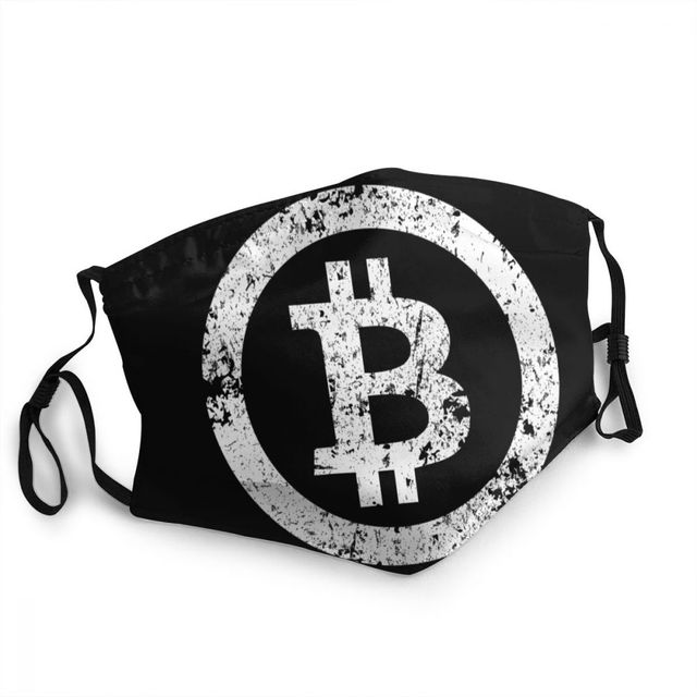 Bitcoin Reusable Adult Mouth Face Mask Crypto Currency  1