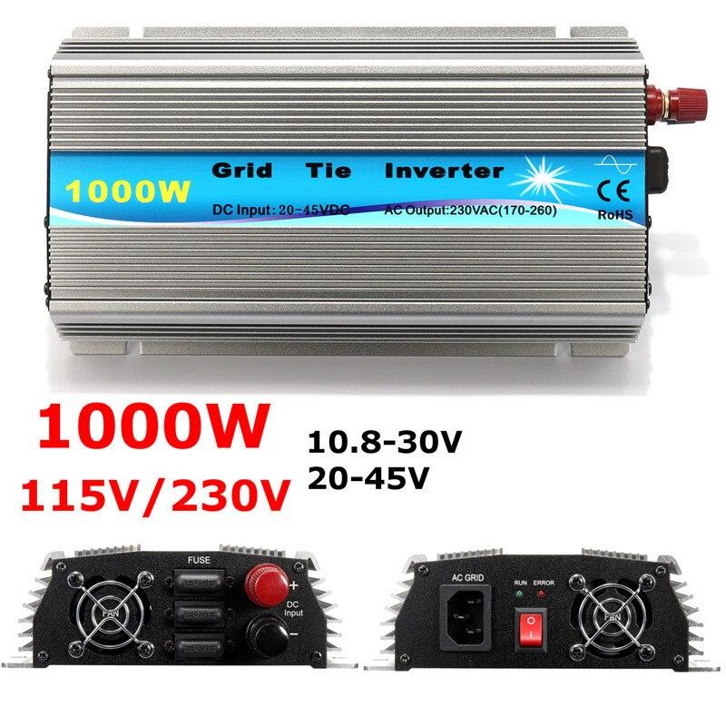 Grid Tie Inverter 1000W MPPT Micro 230V/115V Panel 36 Cells Function Pure Sine Wave Output On Grid Tie Inverter 11-50V DC