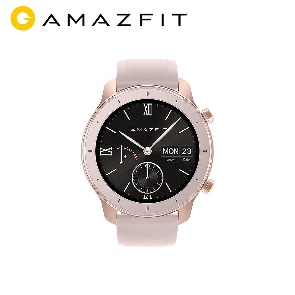[Version mondiale] AMAZFIT GTR Smartwatch 42mm 5ATM étanche GPS GLONASS Bluetooth moniteur de fréquence cardiaque montre intelligente