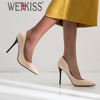 WETKISS Big Size Women Pumps Shoes Woman Stiletto Heel Pumps Pointed toe Basic Pumps Dress Shoes Ladies Thin High Heels Shoes фото