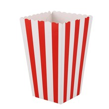 12 Cinema Stripes Treat Party Small Candy Favour corn Bags Boxes,red(China)