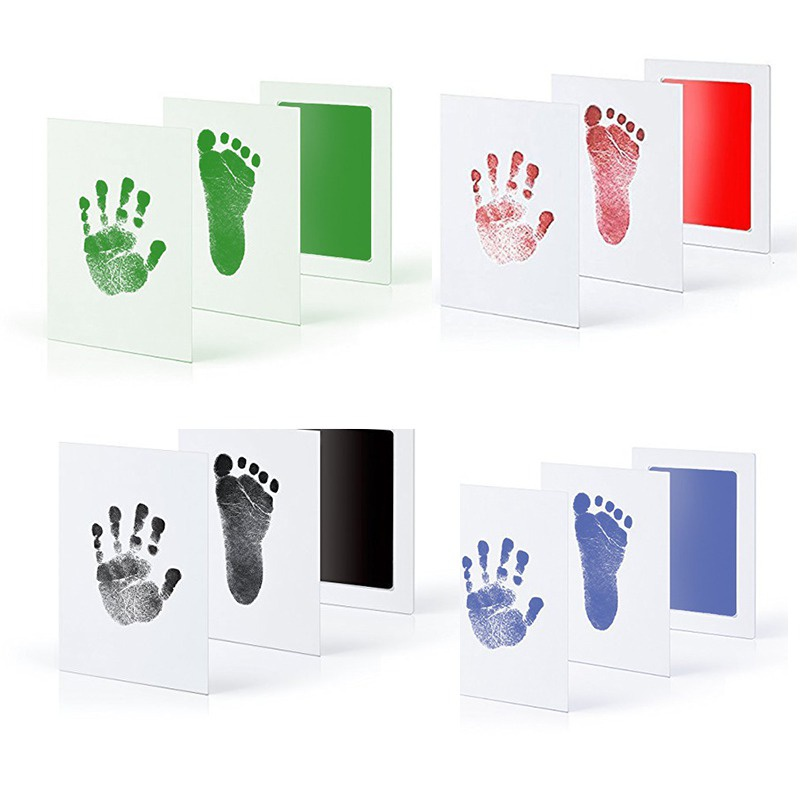 Baby Non-Toxic Handprint Footprint Kit Souvenir Stamp Pad Stamps Toys Kids DIY Watermark Clay Toys