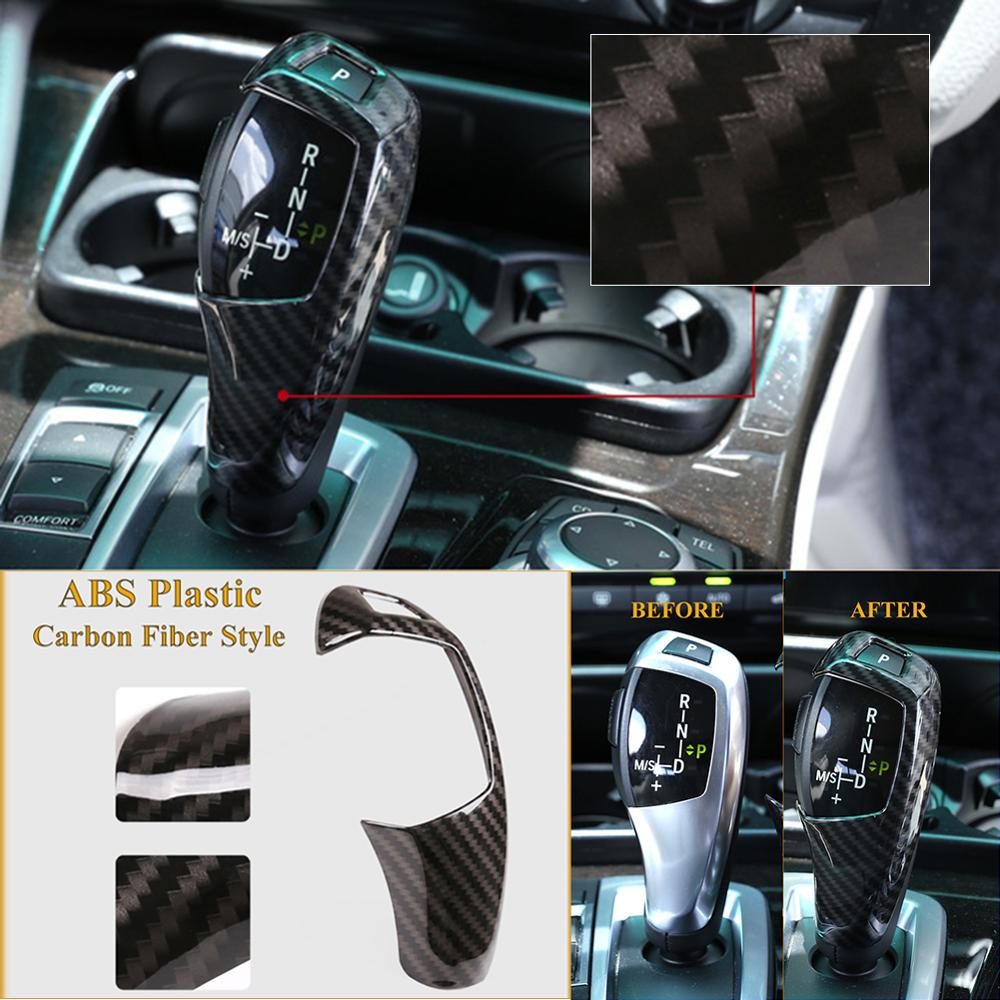 cheapest Auto Interior ABS Gear Shift Cover Decoration Stickers For BMW X5 X6 2015-2018 3 Series GT 2013-2019 Car Styling Accessories