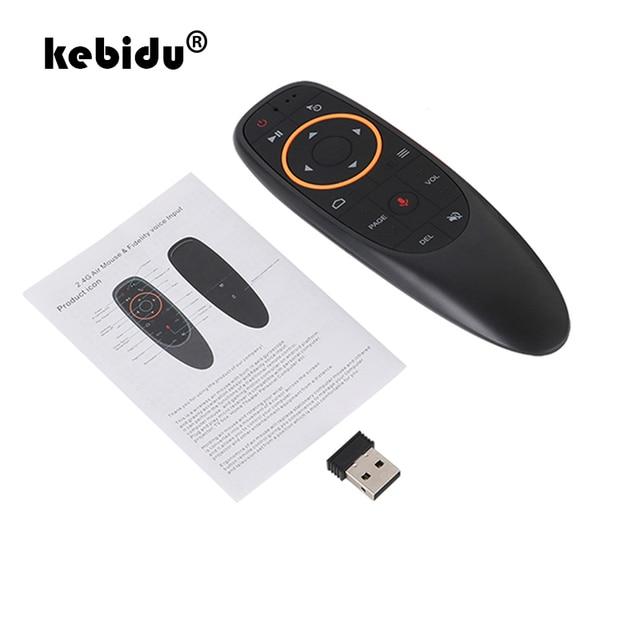Kebidu G10s يطير ماوس هوائي صغير للتحكم عن بعد G10 اللاسلكية 2.4GHz ل تي في بوكس أندرويد مع التحكم الصوتي ل الدوران الاستشعار لعبة