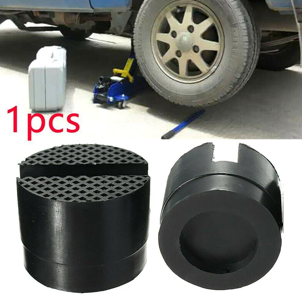 Universal Car Slotted Frame Rail Floor Metal Jack Adapter Lift Rubber Pad Car Parts Rubber Support Pad Vehicle Maintenance Keep