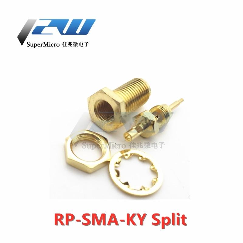 10 pz/lotto Ad Alta frequenza connettori coassiali SMA-KY (50 ohm) connettore RF SMA-K split