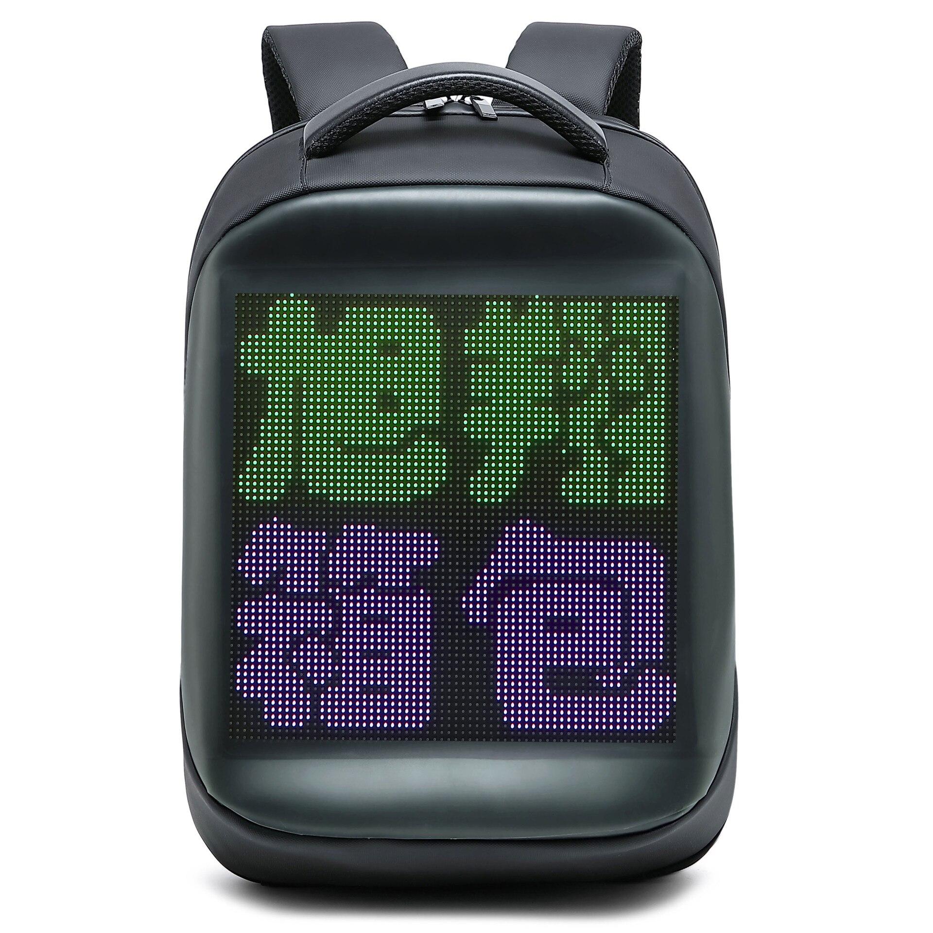 LED Advertising Backpack WIFI Version Portable LED Backpack Magic Smart Walking Billboard APP Control Outdoor Led Display Bag,