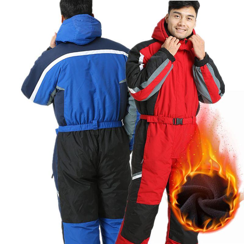 Men Skiing Jacket Winter Waterproof Windproof Fleece Warm Snowboard Coat Women Jumpsuit Overalls Snow Suit Cyf025