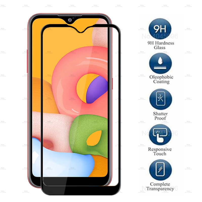 For Samsung A01 Glass Screen Protector Tempered Glass For Samsung Galaxy A01 A 01 SM-A015F A015 A015F Glass Protective Film