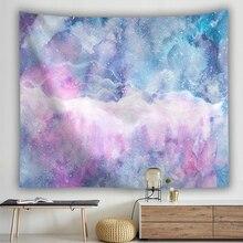 Конфетный небесно-Розовый Настенный Гобелен из ткани тонкий полиэстер 3D Печатный гобелен навесной пляж полотенце фон украшение дома