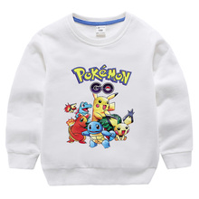 Summer Children Long t-shirts cotton Pokemon Go Kids boys girls tops tees Hoodie for 3-10Years baby boys pikachu clothing autumn clothing pokemon hoodie children t shirts cartoon pikachu charmander boys clothes cotton pocket monster girls clothing