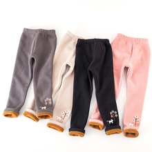 Baby Girls Leggings Invierno Niños Pantalones largos gruesos y cálidos