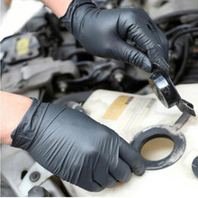 Черный одноразовый латекс перчатки сад перчатки для дома уборка резина питание еда перчатки тату перчатки
