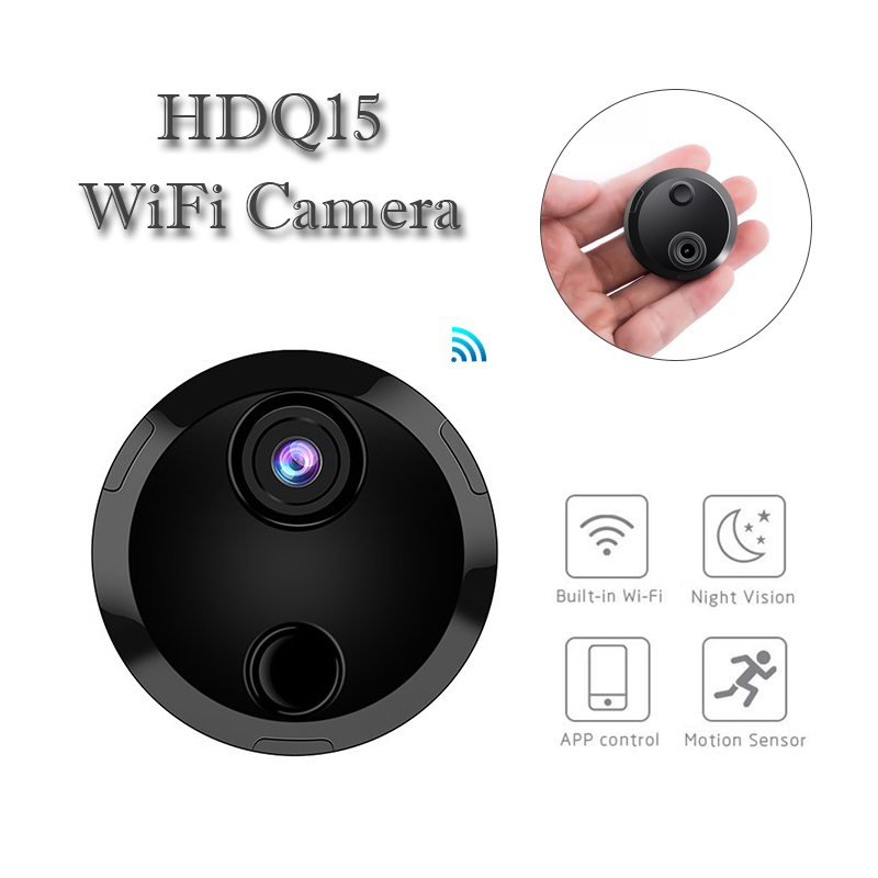<font><b>WiFi</b></font> <font><b>Mini</b></font> Body <font><b>Camera</b></font> Micro Gizli Kamera Espion Small Night Vision Camcorder HD 1080P Video Voice Minicamara Wireless Tiny Cam image