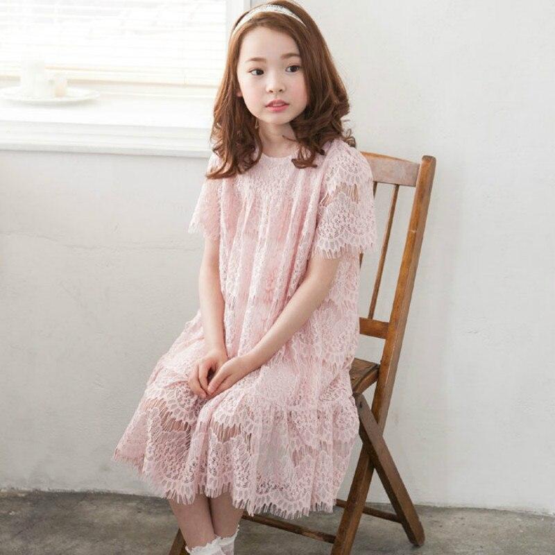 2020 New Style Summer Cute Girls Princess Dresses  Kids Lace Dresses For Teen Girls Fashion Baby Girls Elegant Dresses, #8516