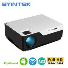 BYINTEKK11 스마트 안드로이드 프로젝터, 1920x1080 해상도, 풀 HD 1080P 지원 4K,LED 긴 수명 비머, 홈 시어터 시네마 용