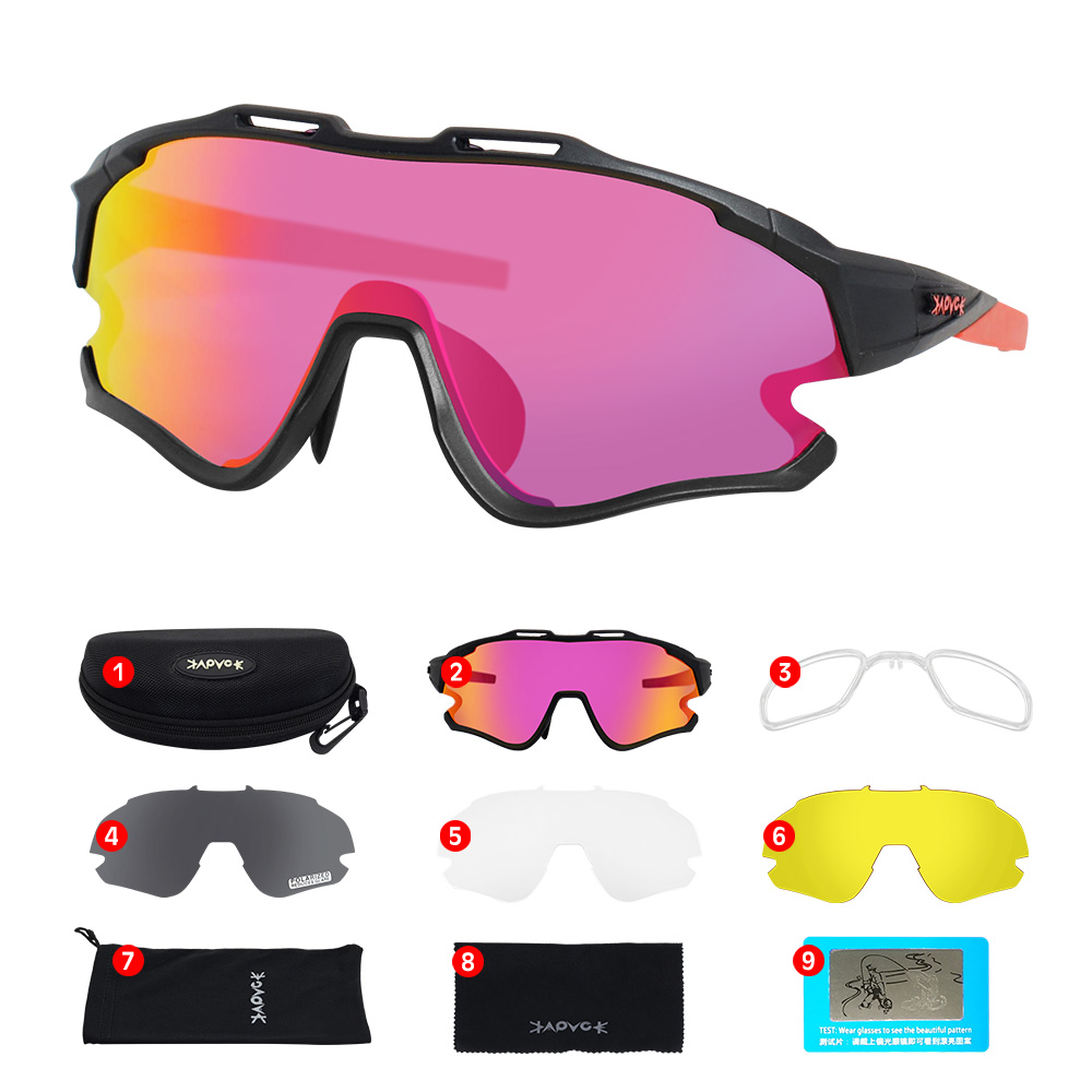 Cycling Sunglasses Professional Polarized Cycling Glasses MTB Road Bike Sport Sunglasses Bike Eyewear UV400 Bicycle Goggles 17