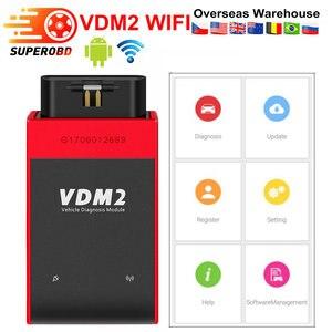 Image 1 - UCANDAS VDM2 VDM II UCANDAS WIFI السيارات السيارات الماسح الضوئي VDM 2 V5.2 دعم متعدد اللغات ونظام أندرويد شحن مجاني
