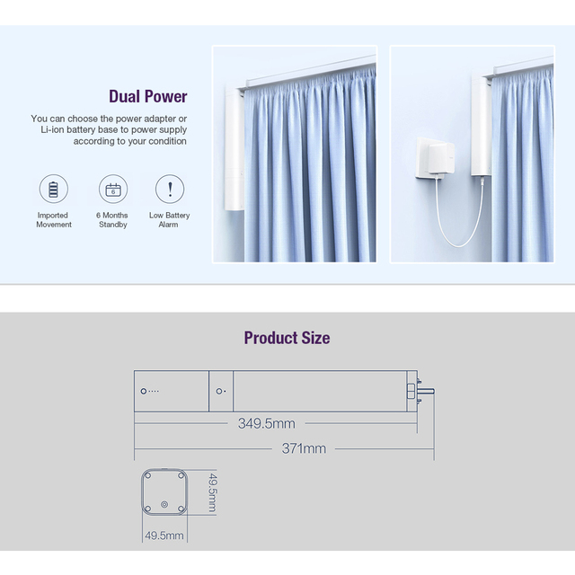 Aqara B1 Smart Curtain Motor Remote Control Wireless Smart Motorized Electric Curtain Motor Timing APP Mihome smart home 4