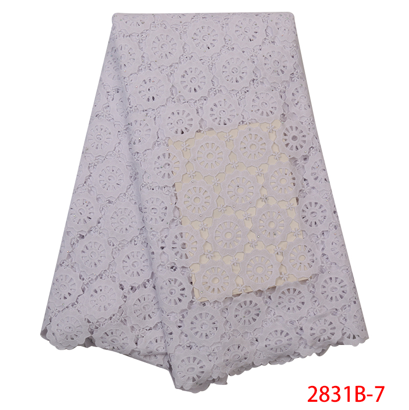 White African Cord Lace Fabric Hot Selling,Water Soluble Lace 2019,African Dry Lace Fabric With Stones For Women Dresses KS2831B