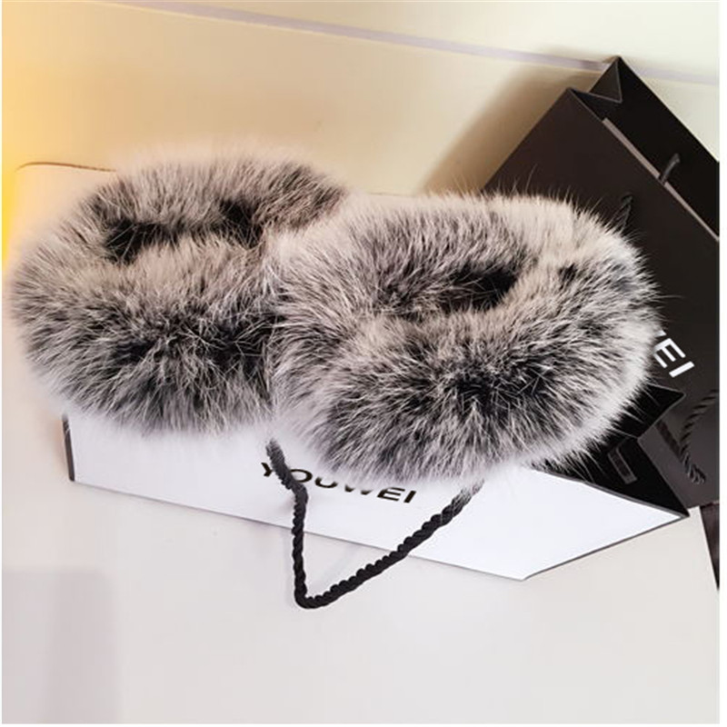 Genuine Leather Real Fur Full Finger Gloves Wrist Thicken Winter Warmer Mittens Driving Touch Screen Wrist Cashmere New Female