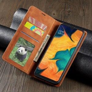 Image 2 - 電話ケース A10 A20 A30 A40 A50 A60 2019 高級磁気フリップ革カバー財布 GalaxyA50 GalaxyA10 を 20 30