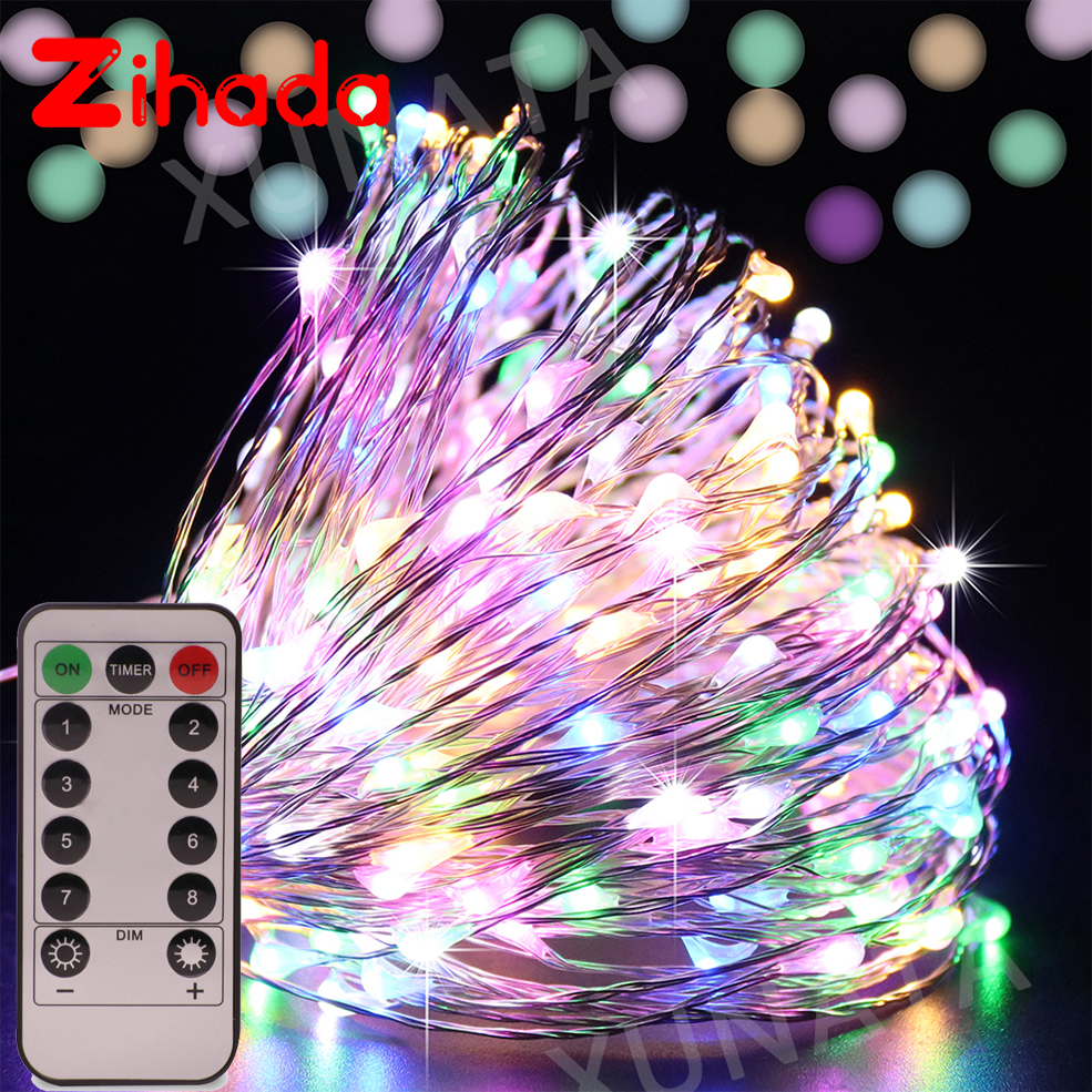 5M/10M USB Copper Silver Wire Mini Fairy String Light Decoration Lamp Home Wedding Christmas Lights With Controller