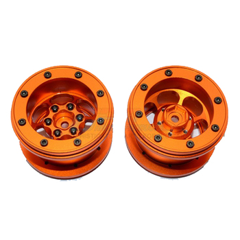 GPM ALUMINIUM 6 POLES WHEELS FOR 2.2' TIRE For AXIAL YETI SCORE AX90068 RC Upgrade
